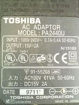 Toshiba Satellite Laptop Computer Plug-In AC Power Adapter PA2440U 15VDC 2A - $11.04