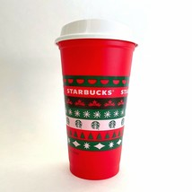 New Limited Edition Starbucks 2020 Christmas Holiday Reusable Red Cup Gr... - $23.74