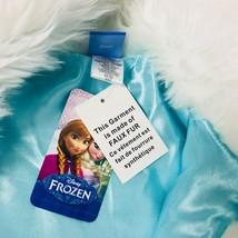 New Girls Disney Frozen Faux Fur Vest Size Medium 7 Costume Top Accent image 2
