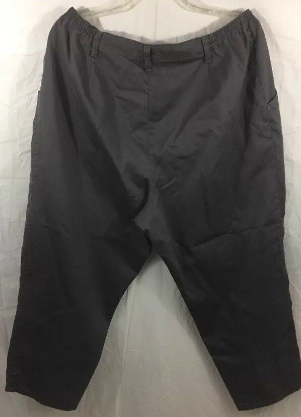 """Lee Womens 20W Gray Dress Pants Elastic Sides At The Waist Cotton/Spandex 26""""Ins"""