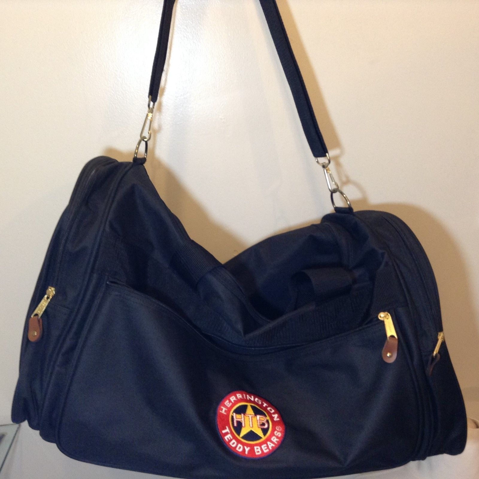 NEW Large Black Herrington Teddy Bear Duffel Bag