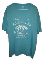 Ralph Lauren Kathmandu Base Camp Green Short Sleeve Polo Cotton Mens XXL... - $18.80