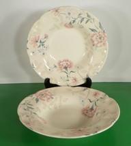 Johnson Brothers LYNTON Rim Soup Bowl (s) LOT OF 2 England Pink Blue Flo... - $19.75