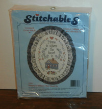 """Home is Where the Heart is Stitchables Cross Stitch Kit 5"""" x 7"""" Oval - $7.84"""