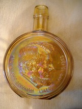Vtg Wheaton Abraham Lincoln Amber Brown Carnival Glass Decanter 1st Edition - $4.99