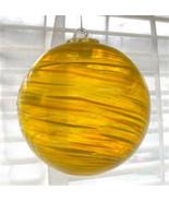 """Hanging Glass Ball 4"""" Diameter Yellow with Swirls (1) Friendship Ball HB... - $15.84"""