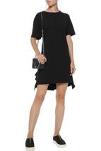 IRR 148$  Current Elliott T-Shirt Dress THE SIDE SLIT RUFFLE Black Ruffl... - $24.99