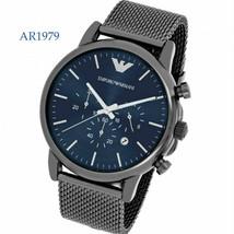 New Emporio Armani Dress Chronograph Gunmetal Stainless Steel Men's Watc... - $168.29