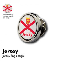Jersey Flag clip on rear Pin ,Badge / tie pin unisex gift gift boxed