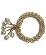 Free size Pearls Openable Bracelet Indian bollywood jewelry ba b001 - $13.99