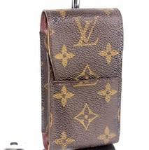 100% Auth Louis vuitton Monogram Canvas Leather Cigarette Case France CT1010 - $113.10