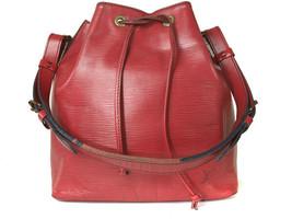 Authentic LOUIS VUITTON Petit Noe Red Epi Leather Drawstring Shoulder Ba... - $320.00