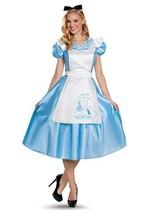 Disguise Alice In Wonderland Deluxe Adult Womens Halloween Costume 85698 - $55.99