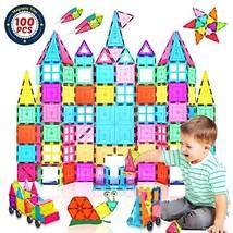 Landtaix Kids Magnet Tiles Toys 2020 New Upgrade 100Pcs Oversize 3D Magn... - $53.49