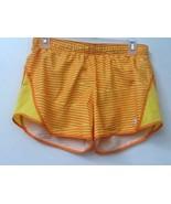 WOMENS CHAMPION SHORTS SIZE S FOLD DOWN WAISTBAND Yellow Orange Striped ... - $14.95