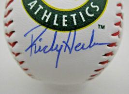 RICKEY HENDERSON / MLB HALL OF FAME / AUTOGRAPHED A'S LOGO OML BASEBALL / COA image 2