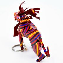 Handcrafted Painted Colorful Recycled Aluminum Tin Can Lion Ornament Zimbabwe image 3