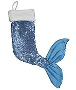 21 Inch Sparkly Mermaid Tail Christmas Stocking (Blue) - $19.75