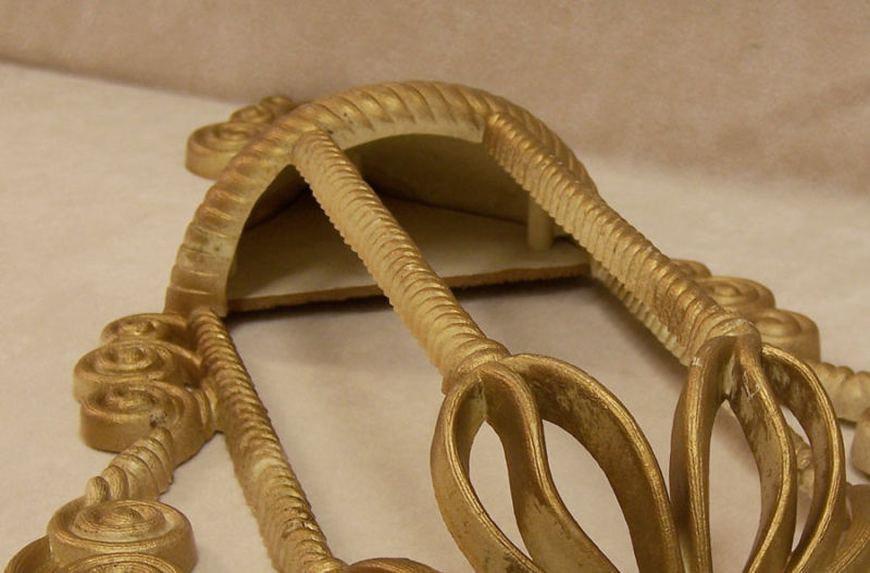 Set 2 Vintage Burwood Plastic Syroco Gold Wall Pockets Home Décor Scrolling