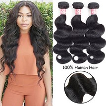 "Brazilian Virgin Hair Body Wave 3 Bundle 8"" 10"" 12"" Unprocessed Human Hair Bundl"