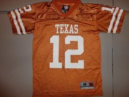 Screen NCAA Texas Longhorns Genuine Stuff Football Jersey Youth M (10-12  Orange - $20.78