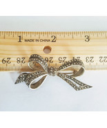 Vintage Art Deco Sterling Silver Marcasite Ribbon Bow Brooch - $17.99