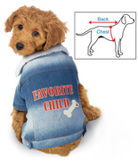 Favorite Child Denim Dog Jacket, Medium - $19.91