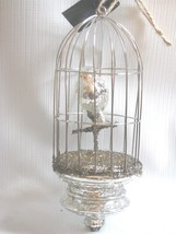 Birdcage Christmas Ornament Mercury Glass and Wire bethany Lowe - $19.79