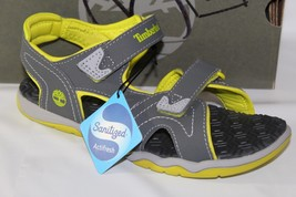 TIMBERLAND ADVENTURE SEEKER TWO-STRAP BOYS' SANDALS, SIZE 3, GRAY,  TB03... - $49.49