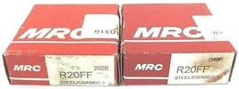 LOT OF 2 NIB MRC R20FF BALL BEARINGS 1-1/4X2-1/4X1/2IN SEALED