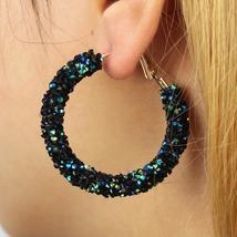 Personality Shiny Crystal Fashion All-match Earrings Rhinestone - $19.67 CAD