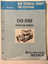 Sony original operation  Manual for EVO-9100 video camera recorder  - $16.78
