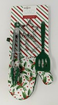 Cook With Color - 5 Piece Baking Set (Oven Mitt/ Tongs/ Spatula/ Cookie ... - $12.22