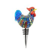 Decorative Bottle Stopper, Cottage Rooster Novelty Reusable Wine Bottle ... - $19.49