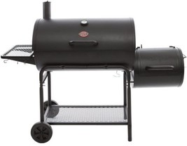 Charcoal Grill Outdoor Cooking Food Picnic Smoker Smokin Champ Horizonta... - $273.03