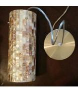 "ETL Mosaic Shell Pendant Light Lamp Satin Nickel Mini 4"" Diameter 9.75"" ... - $63.41"