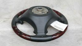 03-06 Porsche Cayenne 955 Wood/ Blk Leather 3 Spoke Steering Wheel 7L5419091 image 7