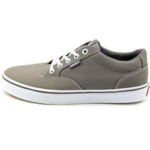 DEFECT Women's VANS WINSTON Taupe Gray/White Canvas Casual Skate Shoes NEW - $31.99