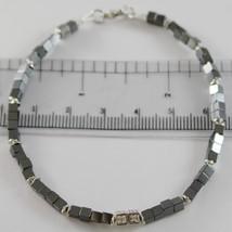 Armband Giadan 925 Silber Hämatit Achat und Weiße Diamanten Made in Italy image 1