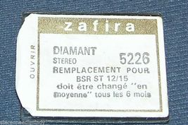 Zafira 5226 NEEDLE STYLUS for BSR ST-12 ST-15 273-DS77 STEREO PHONOGRAPH image 3