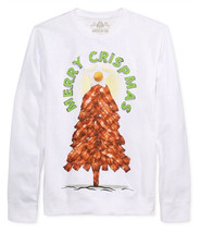 "NEW MENS AMERICAN RAG ""MERRY CRISPMAS"" GRAPHIC WHITE SWEATSHIRT S - $13.99"