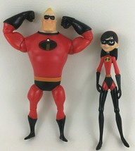 "The Incredibles 2pc Lot 7"" Action Figures Mr Incredible Violet Daughter ... - $18.76"