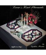 Lover's Knot Placemats Holiday Wedding Warming Gift Quilt In A Day Sew P... - $12.99