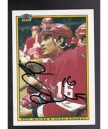 JOHN CHABOT AUTOGRAPHED CARD 1990-91 BOWMAN DETROIT RED WINGS - $2.68