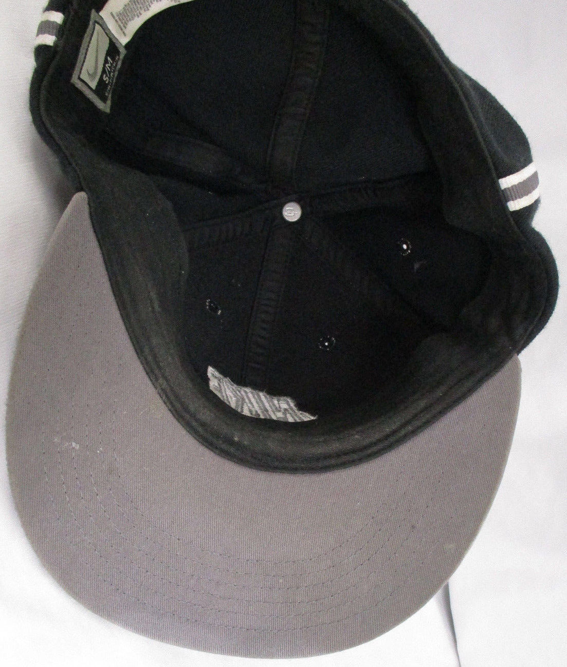 9bcc029903ba1 free shipping vtg hat cap stretch fit nike black old school classic rare  56323 sz s