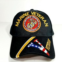 "Marine Veteran ""V"" Mens Adjustable Hat Baseball Cap Embroidered  - $10.99"