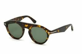 Tom Ford Christopher-02 Tf 633 52A Tortue Verre Vert Hommes Lunettes de Soleil - $230.80