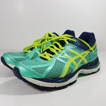 ASICS GEL CUMULUS 17 WOMENS RUNNING SHOES SIZE 7 TURQUOISE GREEN BLUE T5D8N - $24.74