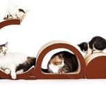 Cat Scratcher Lounge-Corrugated Cardboard Bed Sofa Scratching Pad 3 in 1