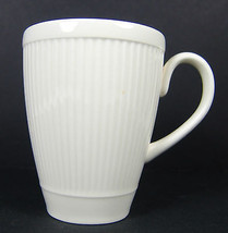 Lot 2 Windsor Wedgwood Mugs Cups Ribbed Made in England Ivory Cream - $14.84